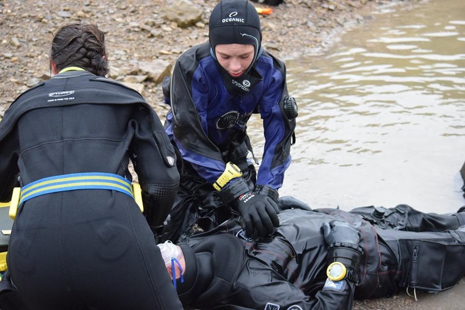 PADI Rescue Divers in training